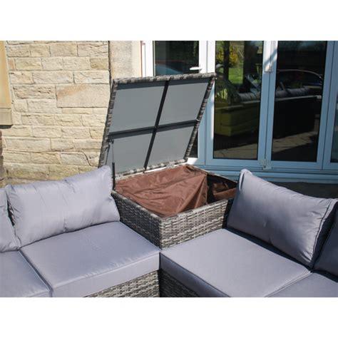sofa set with storage rattan effect corner sofa set with table and storage