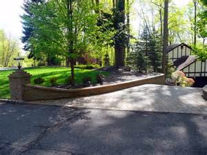 How To Design Low Voltage Landscape Lighting - paver driveway retaining wall columns masco
