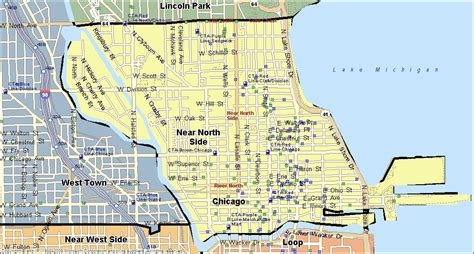 chicago northside neighborhood map near side chicago real estate homes for sale