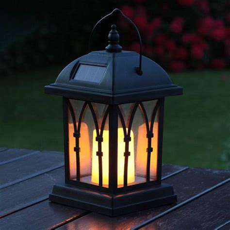 outdoor patio lanterns black solar candle lantern 27cm