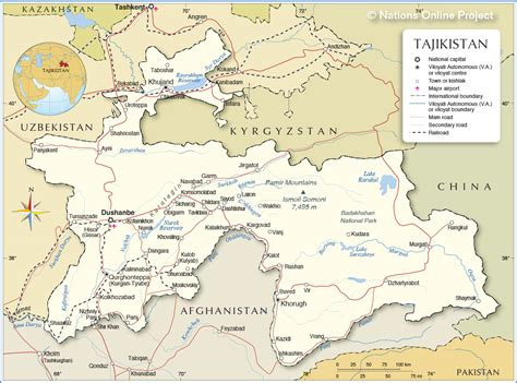 tajikistan map opinions on tajikistan