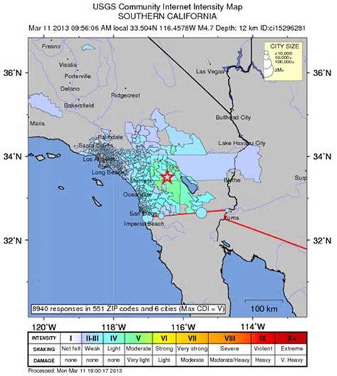 earthquake california today earthquake in california today 2013