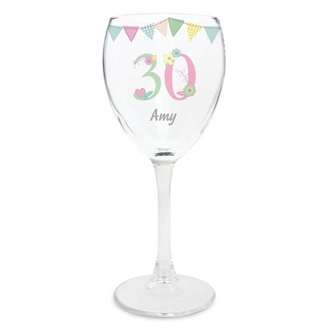 personalised birthday craft wine glass occasions gifts