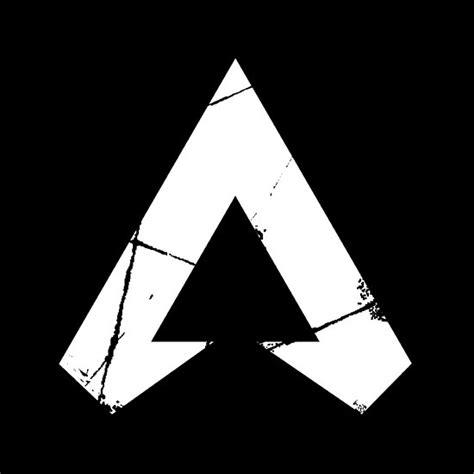 apex legends logo apex legends white symbol poster