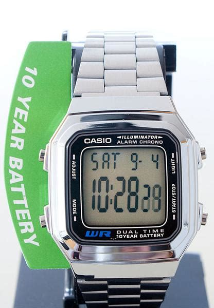 A 178wa casio a 178wa 1av multi function alarm dual time 10 year battery steel great watches