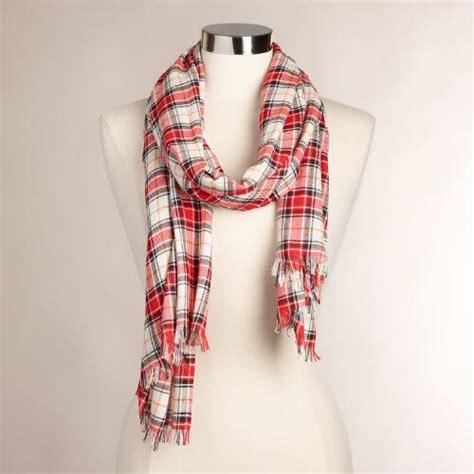 Plaid Fringe Scarf plaid infinity scarf with fringe world market