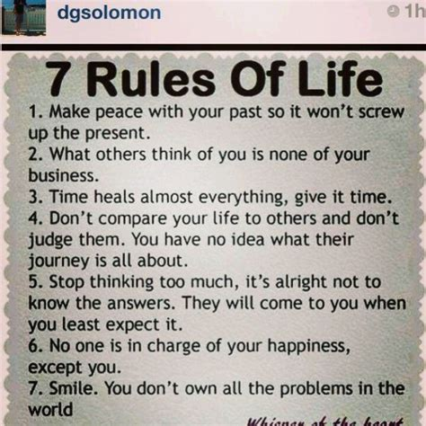 """""""7 Rules of Life"""" 
