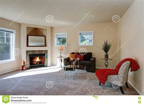 American Living Room Design by Typical American Living Room Interior Design Stock Photo