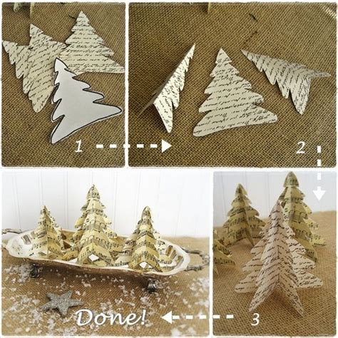 last minute christmas easy vintage paper trees