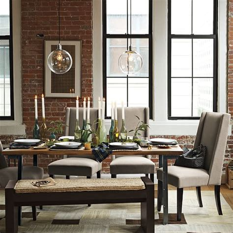 industrial dining table and chairs industrial dining table west elm