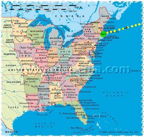 map us east coast cities usa east coast map my