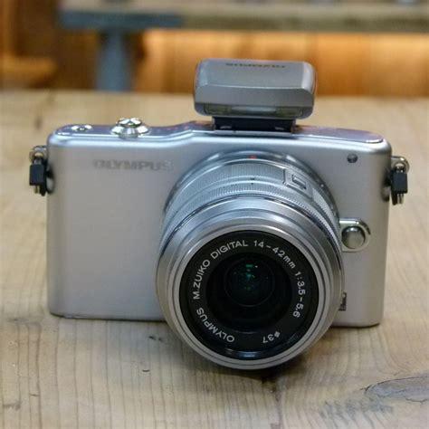 Kamera Olympus Pen Mini used olympus pen mini e pm1 silver with 14 42mm