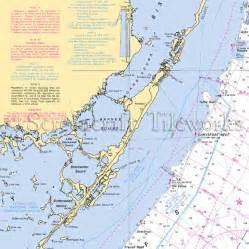 florida marine map florida key largo nautical chart decor
