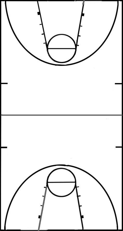 blank basketball template printable basketball court diagram