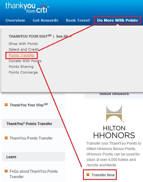 Redeem Hilton Honors Points For Gift Cards - new american express offers and citi thank you point redemptions