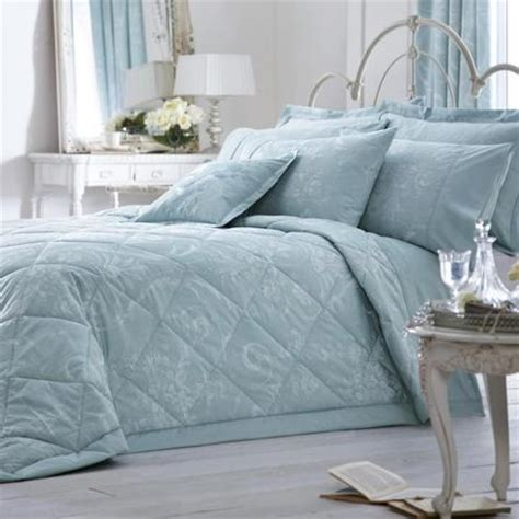 Dorma Quilted Bedspreads by Dorma Duck Egg Regency Collection Quilted Throw Dunelm
