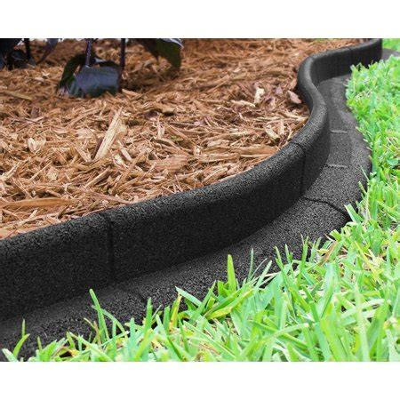 ecoborder  ft  dig landscape edging black walmartcom