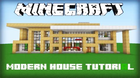 Blueprints For Homes by Minecraft Modern House Tutorial Part 1 Youtube