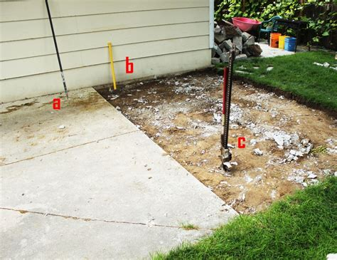 Remove Concrete Patio by Best Way To Remove Concrete Slabs On A Patio