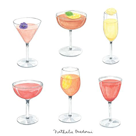 cocktail illustration cocktail illustrations on behance