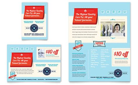 laundry card template laundry services rack card template word publisher