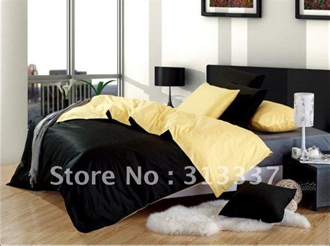 Black And Yellow Comforter by Free Shipping Wholesale 100 Cotton Bedding Quilt