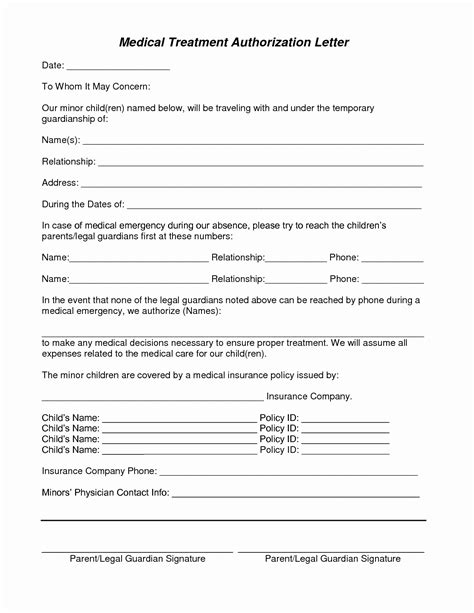 Consent Form For Grandparents Template Medical Consent Letter For Grandparents Template Collection Letter Cover Templates