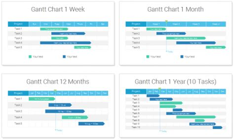 Timelines And Gantt Charts For Powerpoint Presentationdeck Com 12 Month Gantt Chart Template
