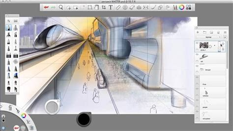 tutorial sketchbook ipad sketchbook pro drawing one point perspective lynda com