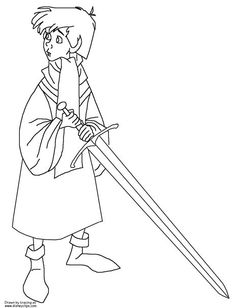 the sword in the stone printable coloring pages disney