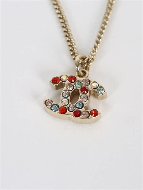 colorful necklaces chanel colorful cc gold necklace luxury bags