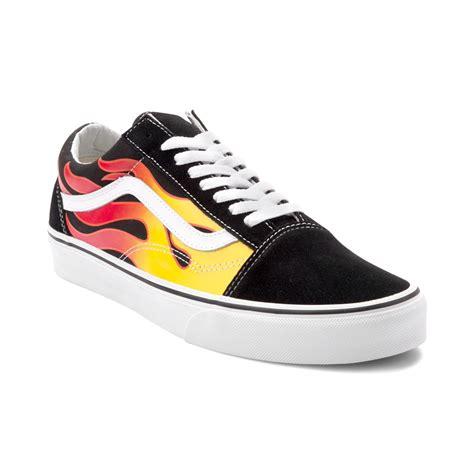 vans skool flames skate shoe black 497143