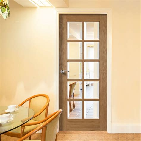 kitchen interior doors 10 pane oak door with bevelled clear glass kitchen doors