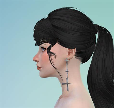 blackpink earrings blackpink jisoo earring darkiie sims 4