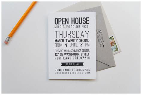 design open house invitation letterpress open house invitation three fifteen design