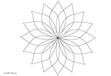 flower mosaic coloring page flower mosaic coloring