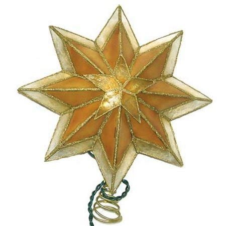 christmas tree toppers at walmart 10 quot lighted gold antique capiz tree topper walmart