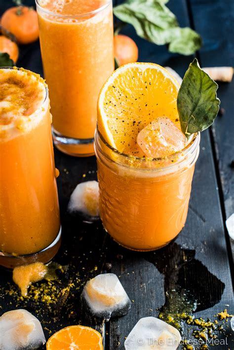 Winter Detox Smoothie Recipes by Winter Detox Orange Turmeric Smoothie The Endless