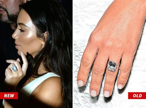 kim kardashian engagement ring cost kanye west kim k gets a new huge diamond engagement ring from kanye