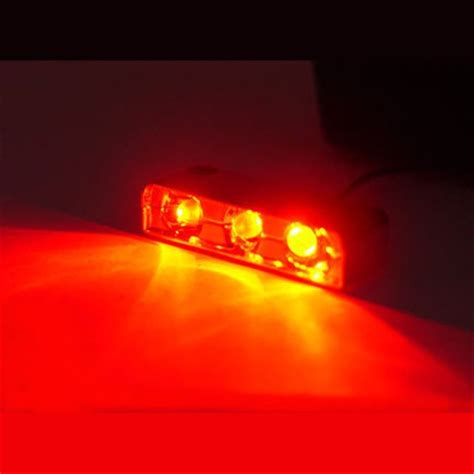 automotive led accent lights red 3 led pod accent light wire attached motorcycle car