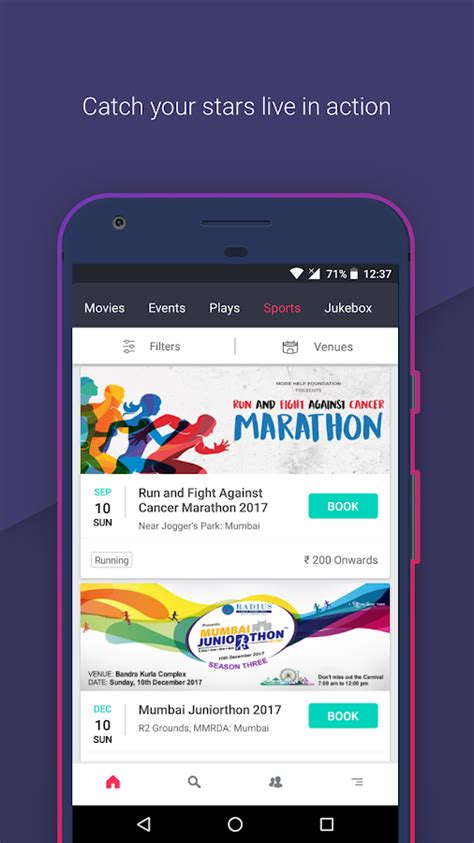 bookmyshow pvr bookmyshow movie tickets plays android apps on google play