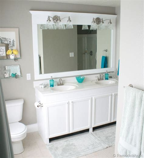 bathroom mirror frames diy bathroom new year new look 8 diy ways to refresh your bathroom