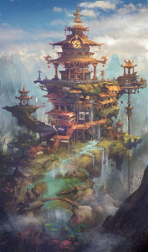 by jie l amazing worlds envirement pinterest fantasy