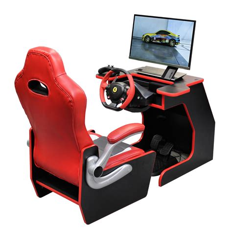 racing gaming desk chair gamecab racer chair desk liberty