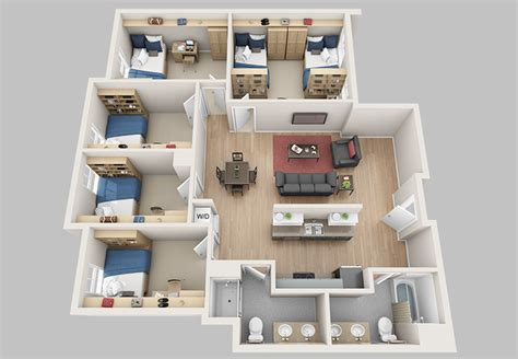 6 Bedroom Floor Plans floor plans madbury commons