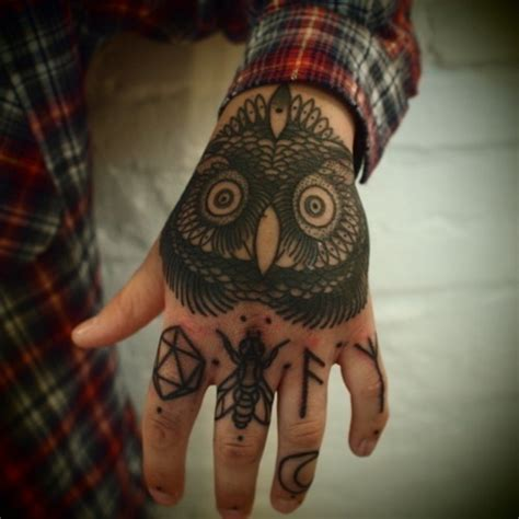 owl hand tattoo magnificent owl designs design ideas