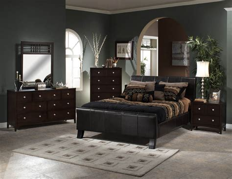leather bedroom furniture sets cheap bedroom sets hillsdale brookland leather bed