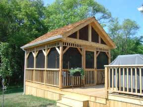 Outdoor Screened Gazebo Exterior Remodeling Gazebos And Screened Porches