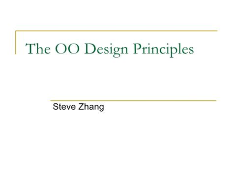 oo design visitor pattern the oo design principles
