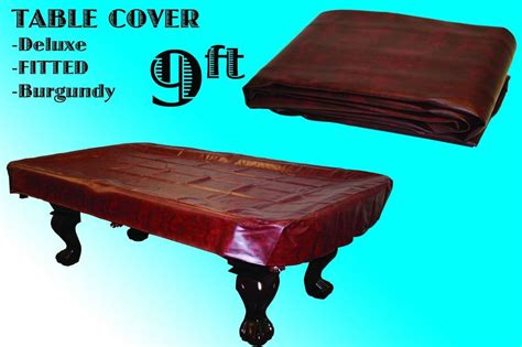 9 pool table cover brand billiard 9 burgundy fitted leatherette pool